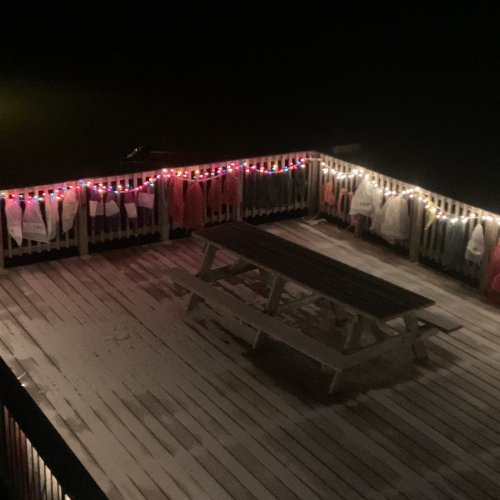 The end of a great 2nd Day of Xmas on the deck